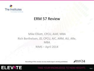ERM 57 Review