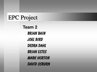 EPC Project