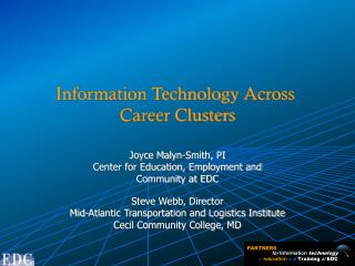 for  Information  technology in education and Training at EDC