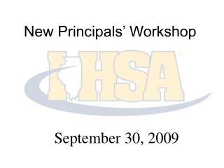 New Principals' Workshop