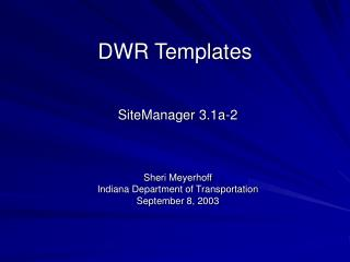 DWR Templates