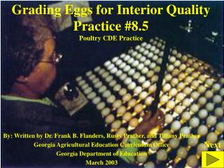 Grading Eggs for Interior Quality Practice #8.5 Poultry CDE Practice