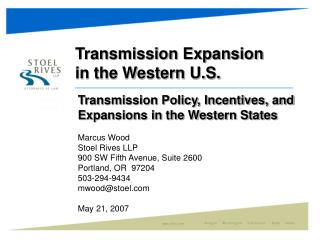 Transmission Expansion in the Western U.S.