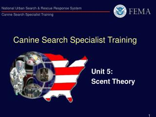 Canine Search Specialist Training