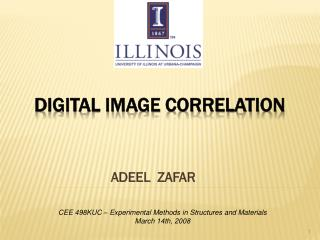 DIGITAL IMAGE CORRELATION