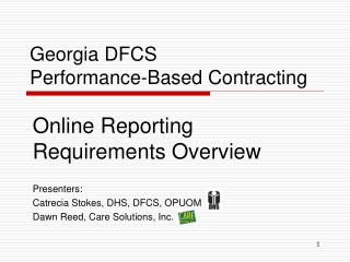 Georgia DFCS Performance-Based Contracting