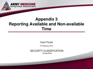 Appendix 3 Reporting Available and Non-available Time