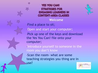 YES You Can!           Strategies for        engaging learners in       content-area classes