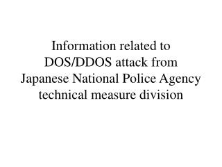 DOS attack list
