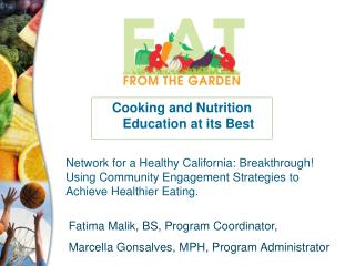 Cooking and Nutrition Education at its Best