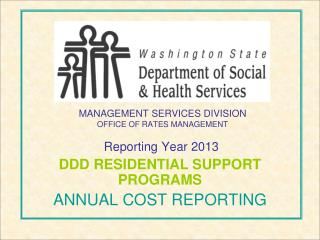 MANAGEMENT SERVICES DIVISION OFFICE OF RATES MANAGEMENT