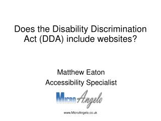 Does the Disability Discrimination Act (DDA) include websites?