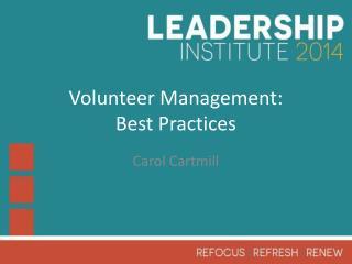 Volunteer Management: Best Practices