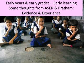 Early years & early  grades .. Early learning