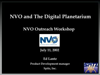 NVO and The Digital Planetarium