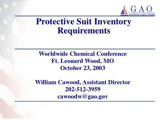 Protective Suit Inventory Requirements