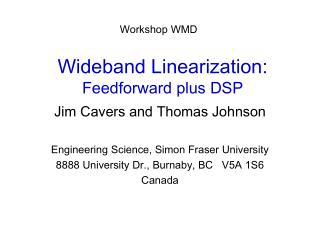 Wideband Linearization: Feedforward plus DSP