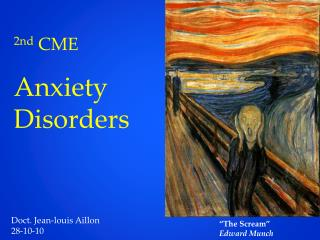 2nd  CME Anxiety Disorders