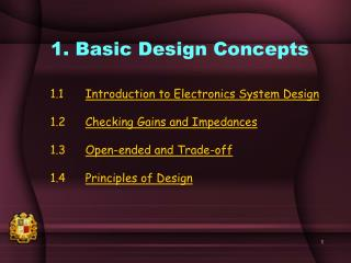 1. Basic Design Concepts