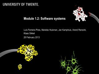 Module 1.2: Software systems