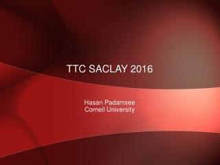 ttc saclay 2016