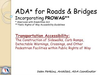 Transportation Accessibility: