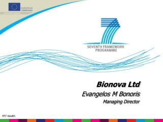 Bionova Ltd Evangelos M Bonoris Managing Director