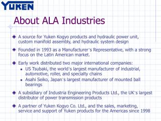 About ALA Industries