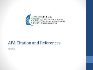 APA Citation and References