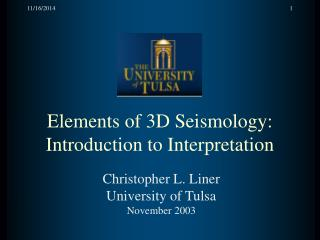 Elements of 3D Seismology: Introduction to Interpretation