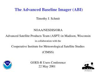 The Advanced Baseline Imager (ABI)