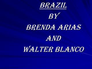 Brazil  By  Brenda arias  And  Walter Blanco