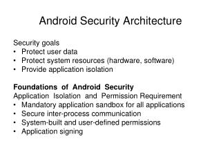Android Security Architecture