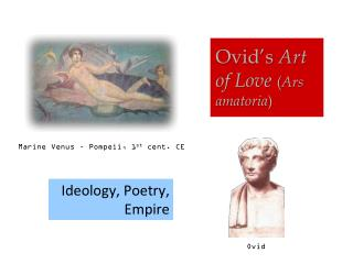 poetry essays love ovid Foreshadowing and duality in ovid's take on spurned love: the vengeance for vanity by the themes of love and eroticism and therefore, he used it frequently in his poetry.