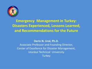 I. Introduction Hazards in Turkey 92  % of the country's 780,580 km² area is prone to