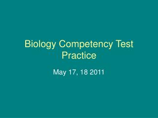 Biology Competency Test Practice