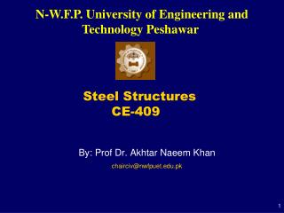 Steel Structures  			CE-409