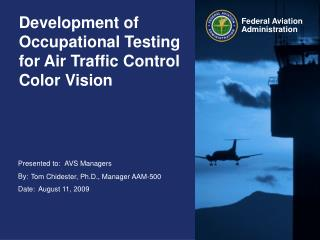 Development of Occupational Testing for Air Traffic Control Color Vision
