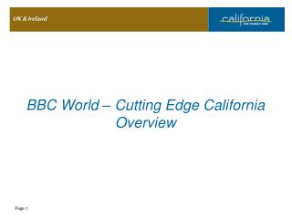 BBC World – Cutting Edge California Overview