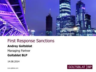 First Response Sanctions