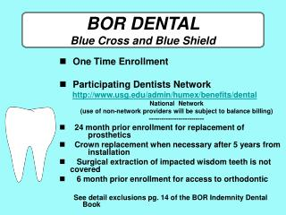 BOR DENTAL Blue Cross and Blue Shield