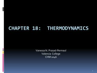 Chapter 18:  Thermodynamics