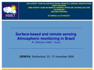 ______________________________________________________________ Surface-based and remote sensing