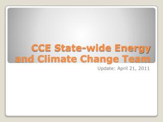 CCE State-wide Energy and Climate Change Team