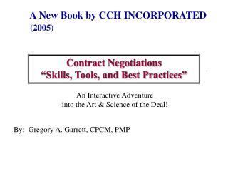 "Contract Negotiations ""Skills, Tools, and Best Practices"""