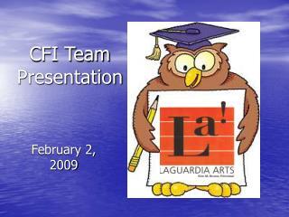 CFI Team Presentation