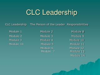CLC Leadership