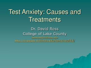 Test Anxiety: Causes and Treatments