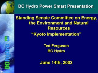 BC Hydro Power Smart Presentation