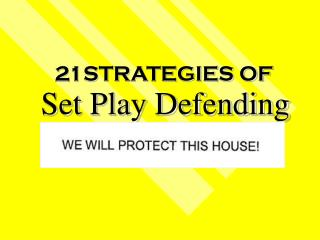 Set Play Defending